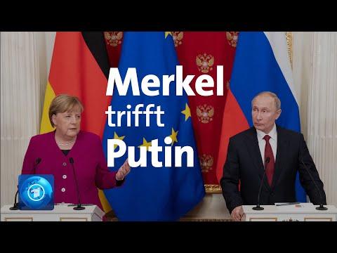 Merkel trifft Putin: Gemeinsame Bem ühungen für Libyen