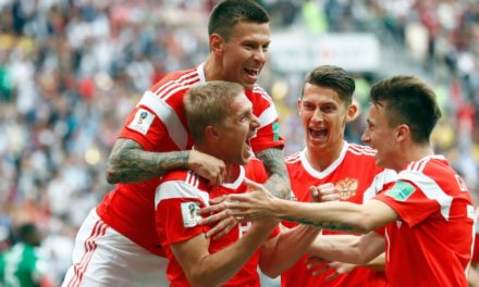 Russia opens up Football globe mug 2018 with thumping sway Saudi Arabia