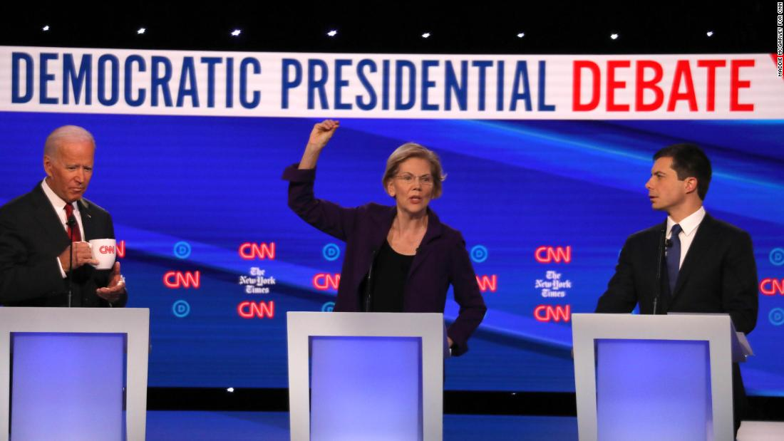 Ideological divide in Democratic main revealed as moderates join forces against Elizabeth Warren