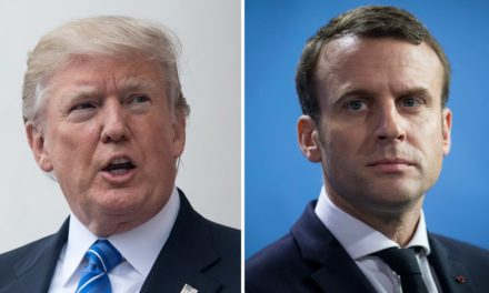Trump competes with Macron as Us flying force One lands in France