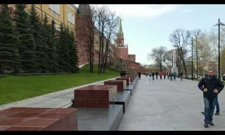 Changing of the guard at the Moscow Kremlin