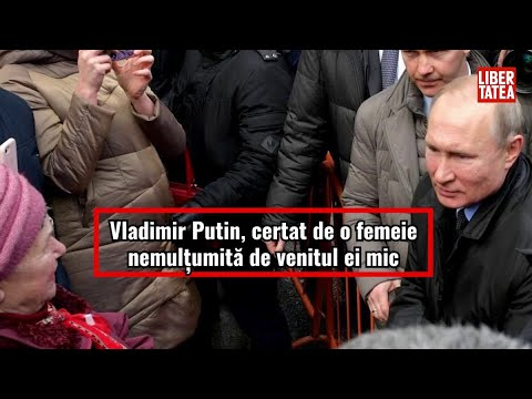 Vladimir Putin, certat de o femeie nemulțumită de venitul ei mic