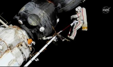 Cosmonauts Inspect Mysterious Hole At Space Station During Spacewalk
