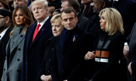 World Leaders Gather In Paris For The 100 -YearAnniversary Of WWI Ending