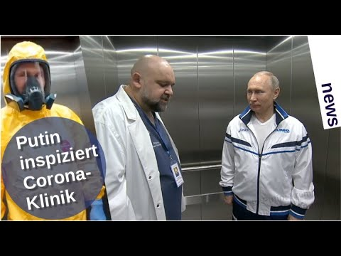 Putin inspiziert Corona-Klinik